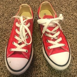 Red Converse - Like New!